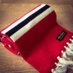 Vintage-style merino wool football scarves by Retro Clasico