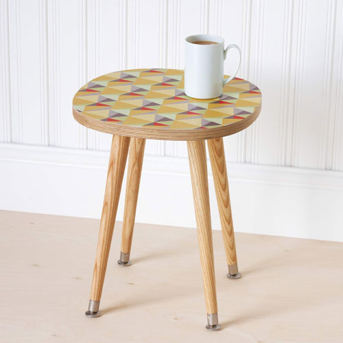 Shards retro side table range by Beyond The Fridge