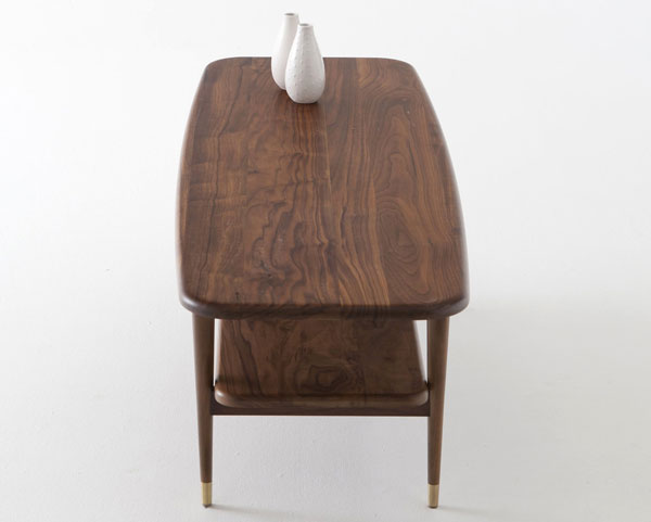 Watford midcentury-style walnut coffee table at La Redoute