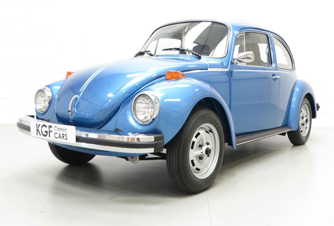1970s limited edition La Grande Bug Volkswagen Beetle with very low mileage