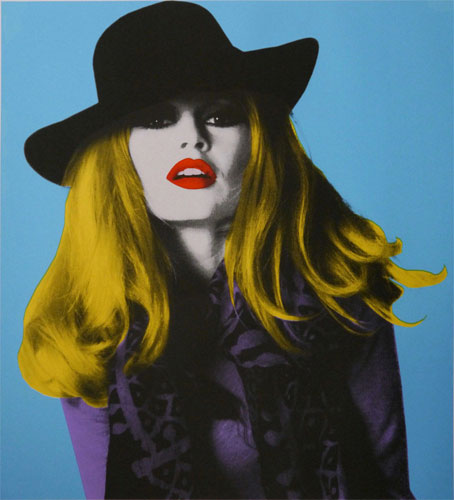 Brigitte Bardot limited edition pop art prints by David Studwell