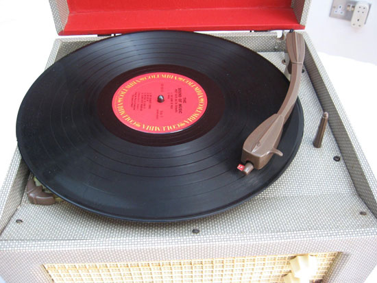 Original 1950s Dansette Junior De Luxe record player