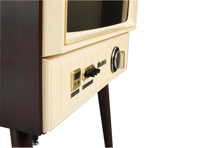 Old school viewing: Doshisha 1960s-style Vintage Taste LCD TV