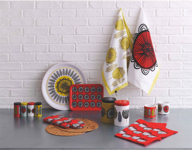 Freda retro-styled homeware range at Habitat