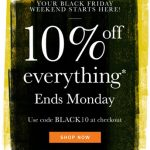 Black Friday deal: 10 per cent off at Heal's