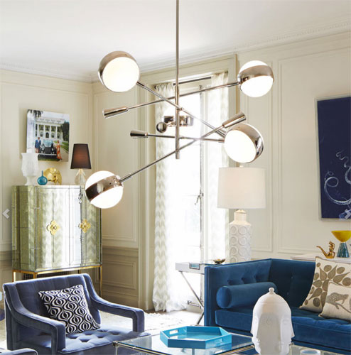 Retro feature lighting: Ipanema multi-boom pendant lamp at Jonathan Adler