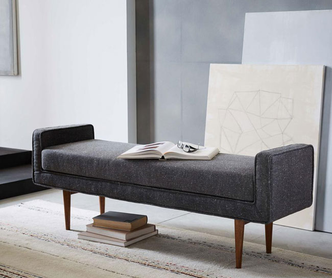Midcentury-style Landry Bench at West Elm