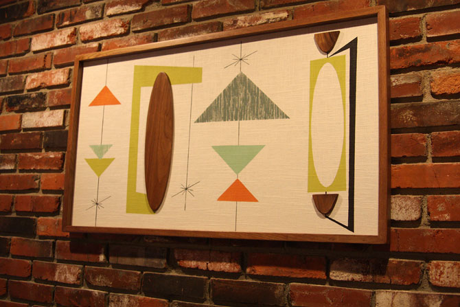 Midcentury-inspired wall art by Modern Retrograde