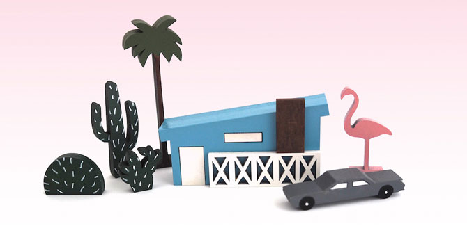 Palm Springs midcentury modern in miniature: Mini City by McKean Studio