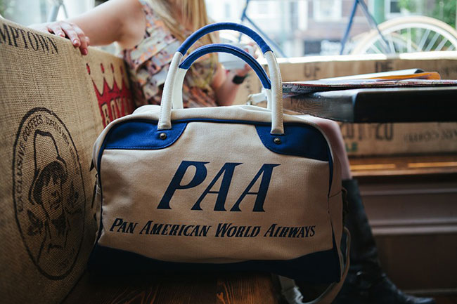 Vintage traveller: Retro-style Pan Am travel bag range