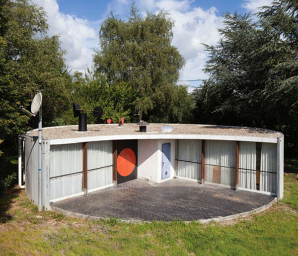 1960s Serge Binotto-designed circular property in Mirepoix, Ariege, south west France
