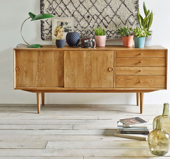 Midcentury-style Quilda sideboard at La Redoute