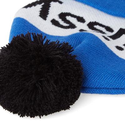 Retro-style Stussy Helvetica pom beanie hats