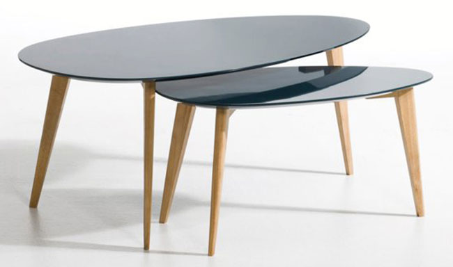 Midcentury-style Flashback coffee table returns to La Redoute with a new lacquered finish