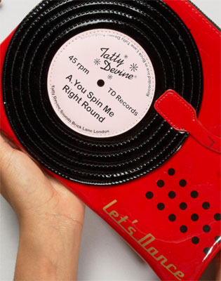 Tatty Devine Record Player Pouch at ASOS