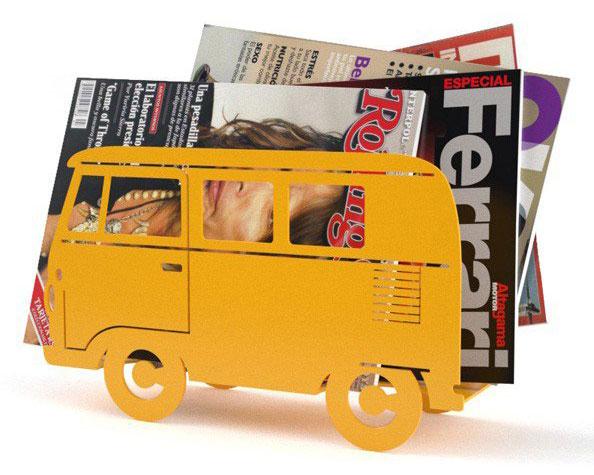 Retro-style Balvi Campervan Magazine Rack