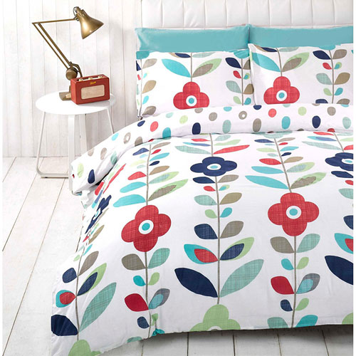 Just Contempo retro-style floral duvet set
