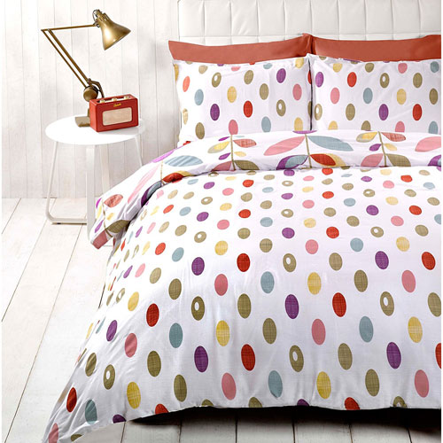 Just Contempo retro-style floral duvet set