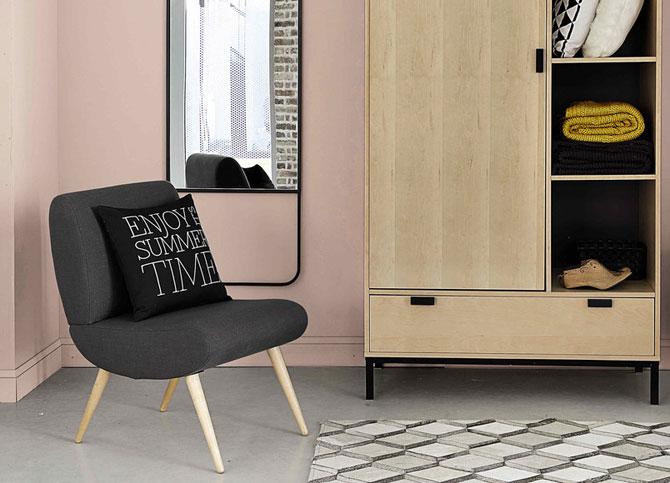 affordable retro cosmos vintage armchair at maisons du monde. Black Bedroom Furniture Sets. Home Design Ideas