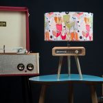 Dansette-inspired table lamp by Tutti Audio