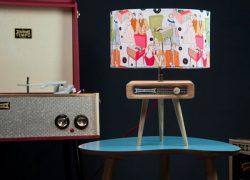 Dansette-inspired table lamp by Tutti Audio