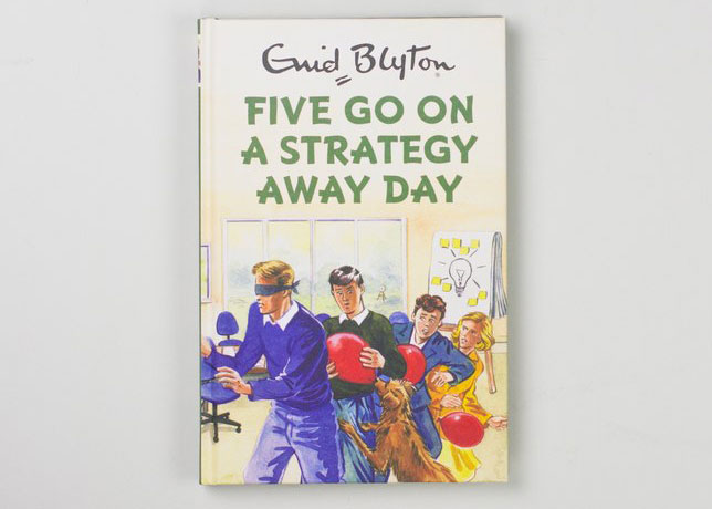 Re-imagined Enid Blyton books for grown ups by Bruno Vincent