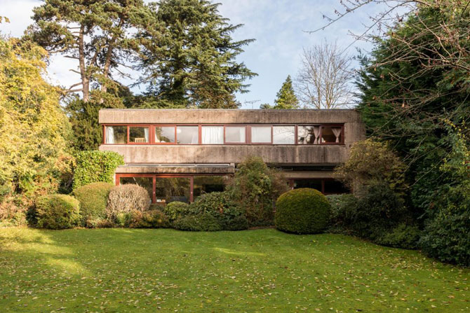 Retro house for sale: 1960s Gerd Kaufmann-designed brutalist property in Stanmore, Middlesex