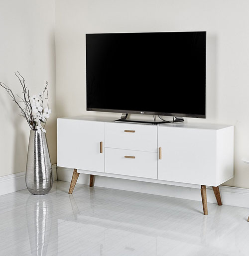 Mmilo Scandinavian-style television stands at Amazon