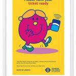Limited edition Mr Men x Transport for London prints