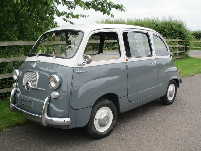 18. Fully restored 1964 Fiat 600D Multipla