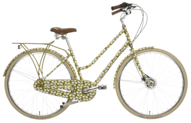 4. Orla Kiely Olive and Orange cycling and camping range at Halfords