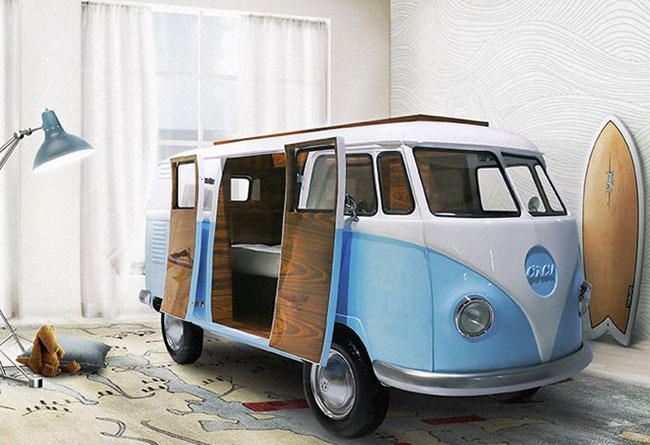 5. VW Camper Van in your bedroom: Circu Bun Van Bed