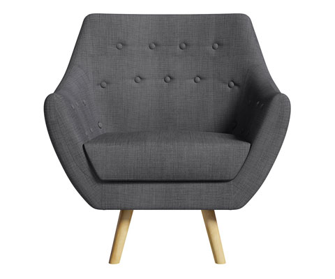 High street retro: Sterling midcentury-style sofa and armchair at Matalan