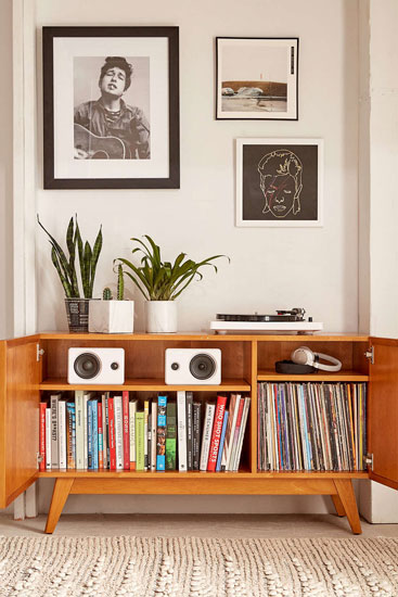 Sawyer midcentury-style media console at Urban Outfitters