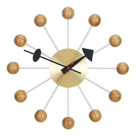 1950s George Nelson-designed Ball Clock gets a new cherry finish