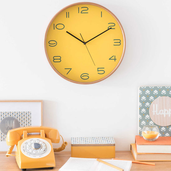 Camden retro wooden wall clock at Maisons Du Monde