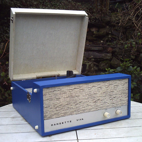 Restored 1968 Dansette Viva record player on eBay