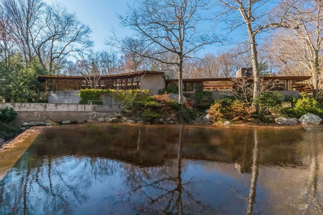 Retro house for sale: Frank Lloyd Wright-designed Tirranna in New Canaan, Connecticut, USA