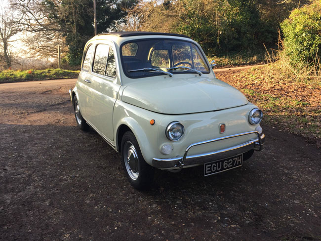 Low mileage 1970 classic Fiat 500L on eBay