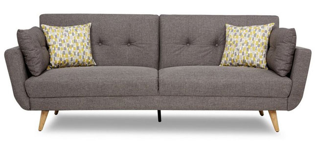Inca midcentury-style sofa bed at DFS
