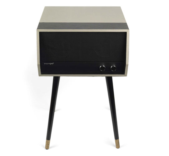 Vintage-style Intempo record player with legs