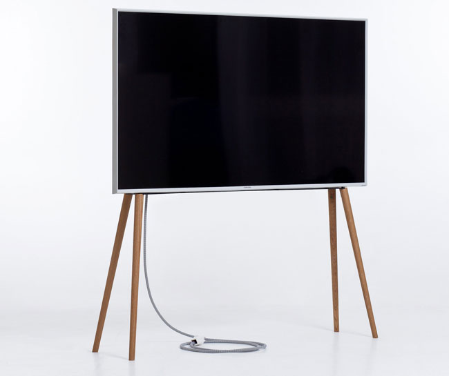 Handmade midcentury-style TV stands by JALG