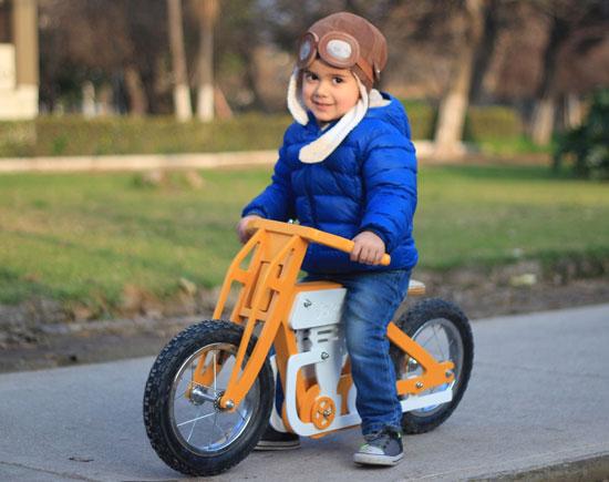 Jokos vintage-style cafe racer balance bikes for kids