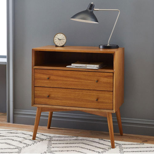 Retro bedroom: Mid-Century Bedside Table at West Elm