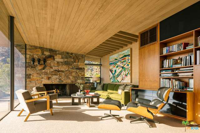 Retro house for sale: The Edris House by E Stewart Williams in Palm Springs, California, USA