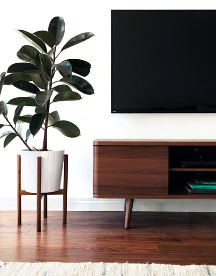 Midcentury-style plant stands by Hook and Stem