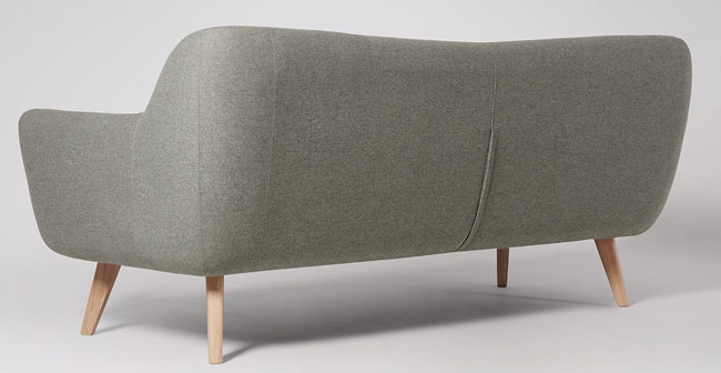 Limited edition Rae midcentury-style sofa at Swoon Editions