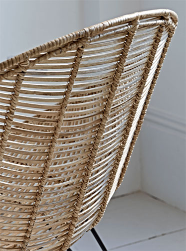 1950s-inspired rattan occasional chair at Cox and Cox
