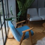 Midcentury modern chairs and coffee tables at Rose & Grey