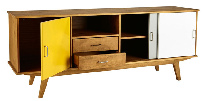 Retro-style Paulette sideboard at Maisons Du Monde